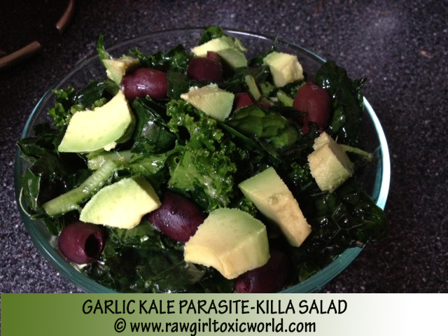 GARLIC PARASITE KILLING SALAD